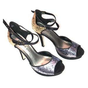 Madden Girl  Gold and Silver Sequined Heels